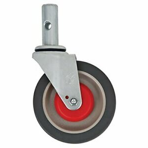 """Magliner 131020B 5/"""" x 1-1//4/"""" Polyurethane Replacement Swivel Caster with Brake f"""