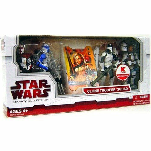 Star Wars Legacy Collection Exclusive Clone Trooper Squad New Sealed LAST ONE
