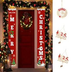 Welcome-Merry-Christmas-Banner-Christmas-Hanging-Sign-Door-Display-Decor-decal