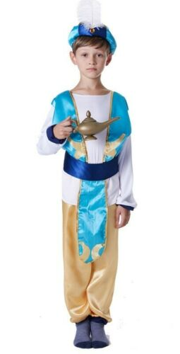 Boys Arabian Genie Aladdin Costume Arab Prince Child Kids Disney Blue Book Week