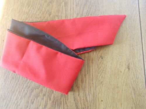 HEAD SCARF HAIR BAND red black SELF TIE BOW  NECK ROCKABILLY SWING PIN UP 50s