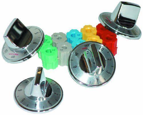 Chrome Camco 00903 Electric Range Knobs Top Burner