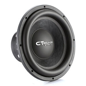 """CT Sounds Strato 15"""" Dual 4 Ohm Car 15 Inch Subwoofer D4 1250w Watts RMS Audio"""