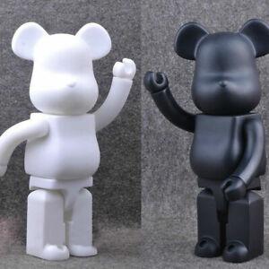 Bearbrick 400 DIY Black PVC Action Figure Toy 28CM Be@rbrick TOY Gifts G