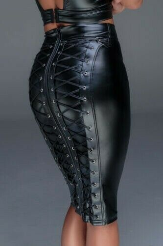 schwarz Rock en Powerwetlook de F152 schwarz Handmade