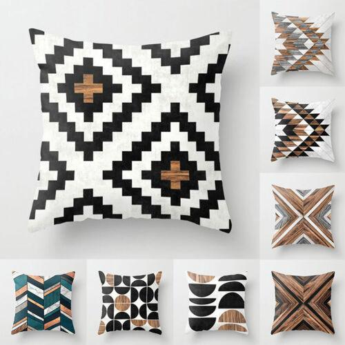 Creative Geometric Pillow Cases Waist Throw Cushion Cover Sofa Home Decor 18/'/'