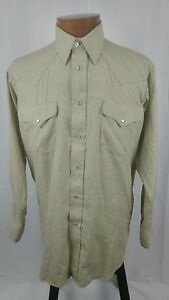 Vtg-Ruddock-Western-Shirt-Long-Sleeve-Pearl-Snap-Men-039-s-Classic-Fit-XLong-Tail