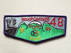WAKPOMINEE-OA-LODGE-48-SCOUT-SERVICE-PATCH-FLAP-1994-NOAC-DELEGATE-THICK-STITCH