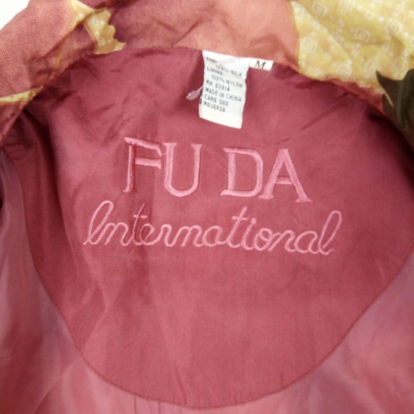 Fuda International Bomber Jacket Women Size M Pin… - image 6