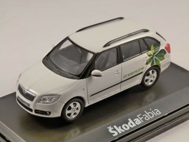 SKODA FABIA II COMBI GREEN LINE in White 1/43 scale model ABREX