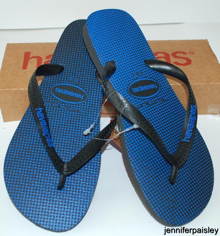 d7ab3afec HAVAIANAS NEW NEW NEW Mens THONGS FLIP FLOPS Gradient Black Blue Star Surf  Logo Skate e09419