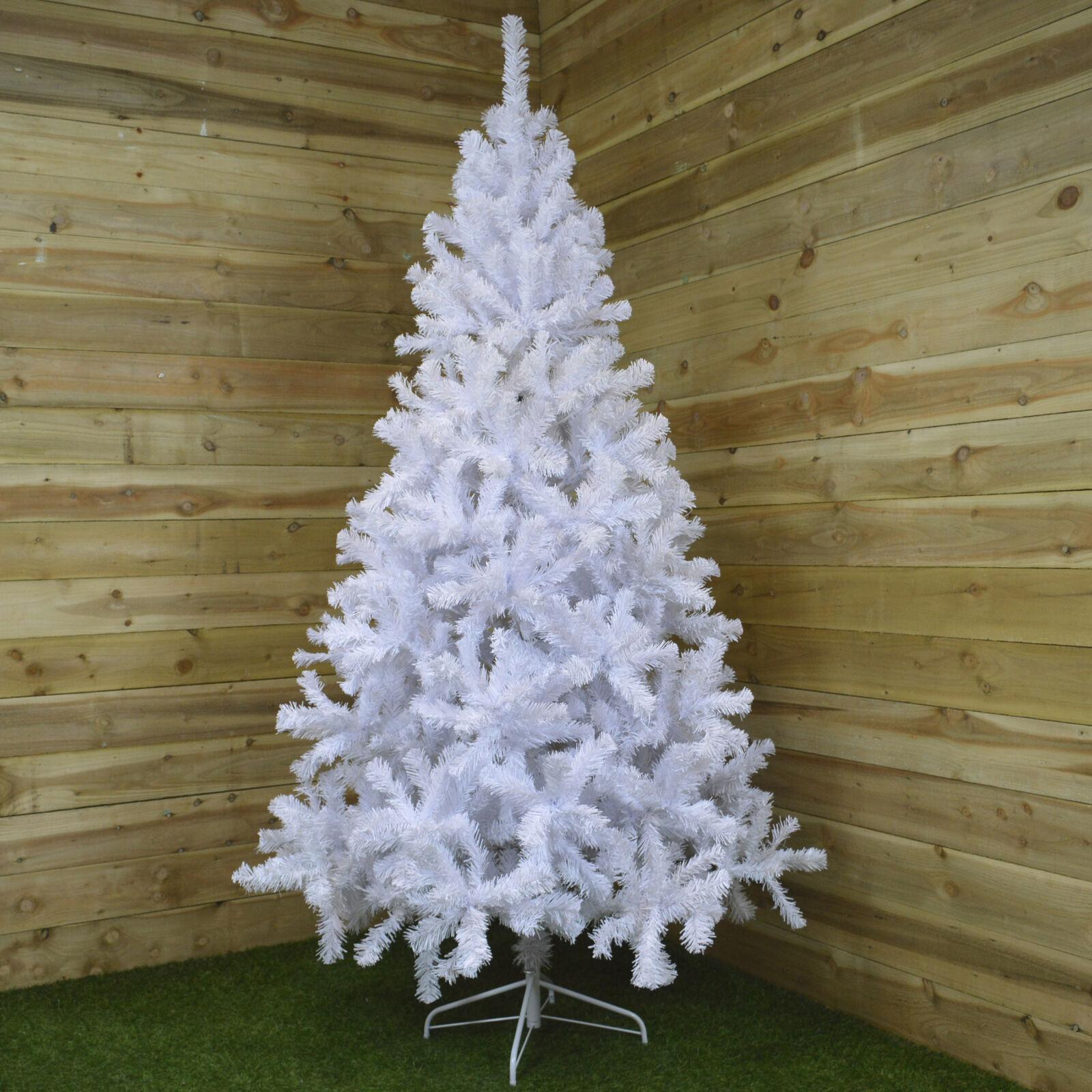 240cm (8ft) Imperial Pine White Festive Christmas Tree