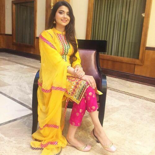 Details about  /New Indian Ethnic Readymade Rayon Kurti Palazzo Pant Dupatta Dress Set Top Tunic