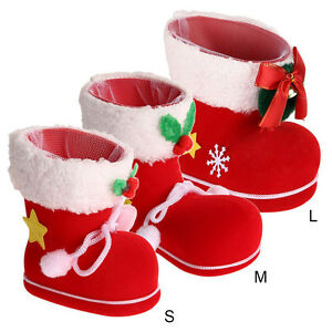 Christmas Shoe.Details About Xmas Santa Boot Shoes Stocking Christmas Tree Decor Hanging Socks Candy Gift Bag
