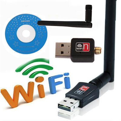 USB2.0 WiFi adaptador inalámbrico de largo alcance 300Mbps 802.11n/g/b w/antena