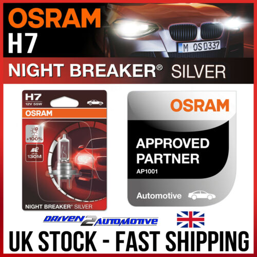 1x Osram H7 Night Breaker Faro Bombilla De Plata Para Mazda MX-5 Mk3 1.8 03.05