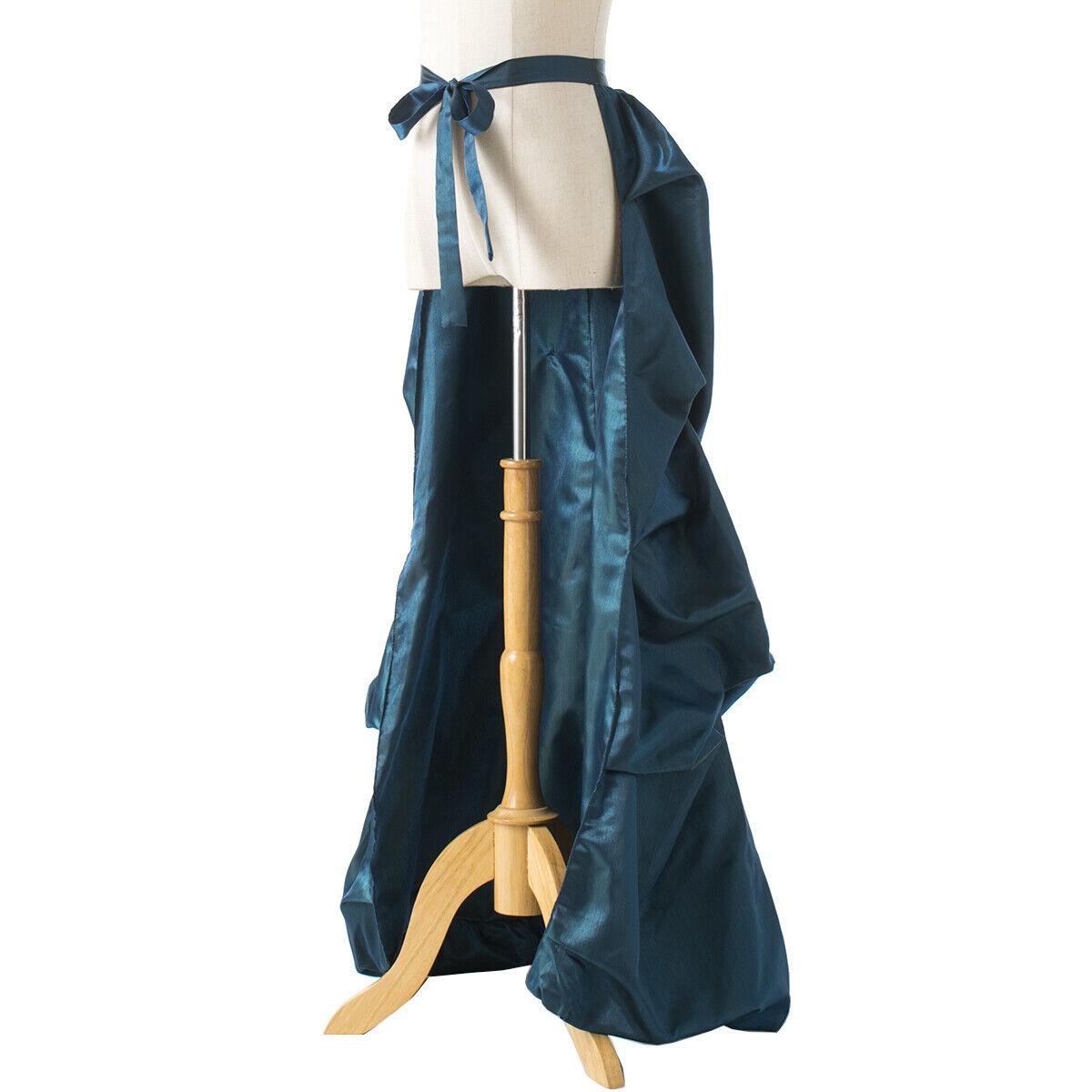 Vintage Victorian Edwardian Bustle Skirt Fancy Dr… - image 10