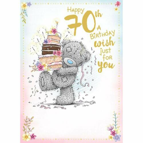 Me To You Bear Happy 70th Birthday Card
