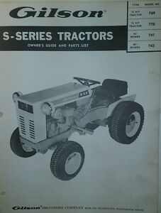gilson yard tractor service manual repair manual