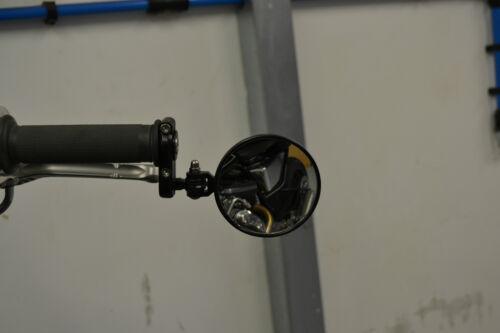 "Motorbike Bar End Mirrors Fold In PAIR Fold Up Satin Black 7//8/"" 22mm"