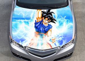Détails sur Son goku dragon ball z voiture bonnet wrap couleur vinyle autocollant decal fit toute voiture afficher le titre d'origine