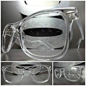 8defe996d92 Men s Women VINTAGE RETRO Style Clear Lens EYE GLASSES Transparent ...