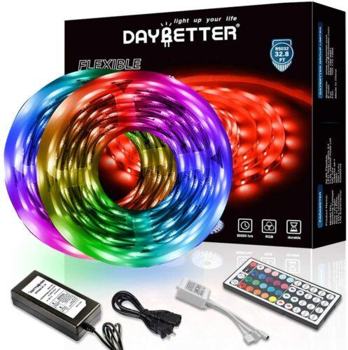 Daybetter 32.8ft 10m Led Strip Lights Flexible Color Changing 5050 RGB 300 LED