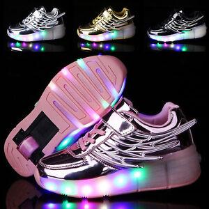 sneakers for cheap 1dd5a eea99 Image is loading Kids-Heelys-Wheel-Roller-Skate-Gift-Boys-Girls-