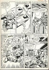 HERCULES-Marvel-Graphic-Novel-37-Pg-55-ORIGINAL-ART-Bob-LAYTON-Full-Circle-1988