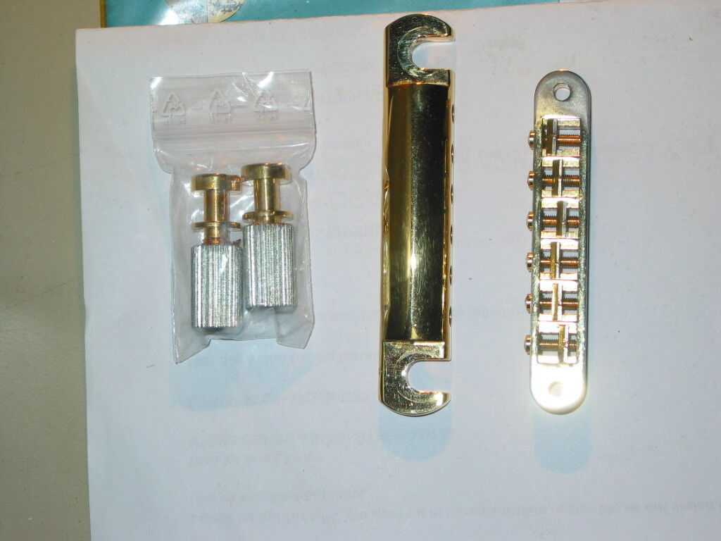 Gibson Stop Bar - PTTP-020 Stop Tail +PBBR-040 Nashville Bridge Steg all Gold us