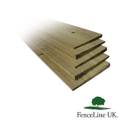 10 Pack 1.8m 6ft Treated Feather Edge Garden Fencing Boards 150mm 6 inch