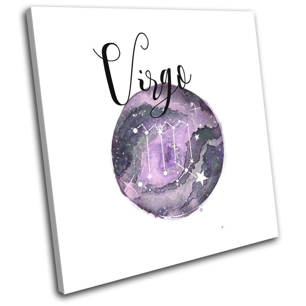 Constellation Virgo Star Sign Starsign SINGLE TELA parete arte arte arte foto stampa cbc0bd