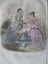 1i31 Gravure de mode 1861 journal des demoiselles