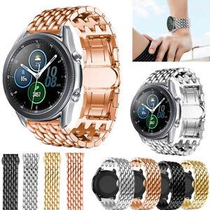 Fuer-Samsung-Galaxy-Watch-3-41-45mm-Active2-Armband-Edelstahl-Sports-Wrist-Strap