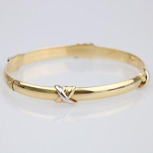 5d55f3e73b068 Details about Cartier Trinity 18ct Gold Tri-Colour Love Bangle Size 18