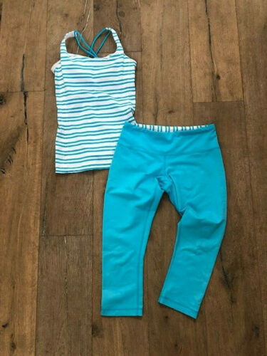 Lululemon Blue & White Stripped Top with Matching