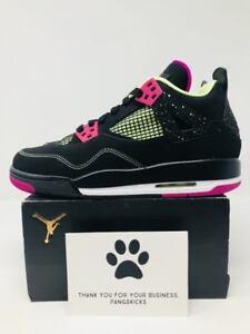 c0e26dc743a5 Nike Air Jordan 4 Retro 30th Fuchsia Black 705344-027 GS Size 7.5Y ...