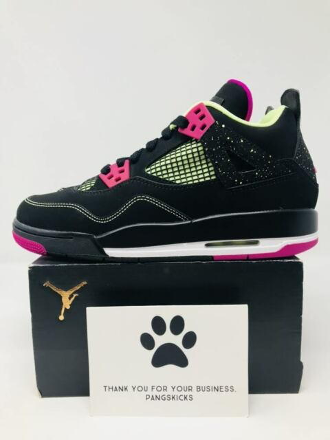 9516a2d9fca345 Nike Air Jordan 4 Retro 30th GG Black fuchsia Flash Women Size 9 7.5 ...