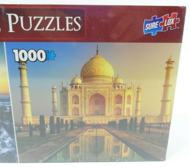 Two 1,000 PC Taj Mahal,Castle Jigsaw Puzzles Keepsakes Deluxe Puzzle 2 Pack