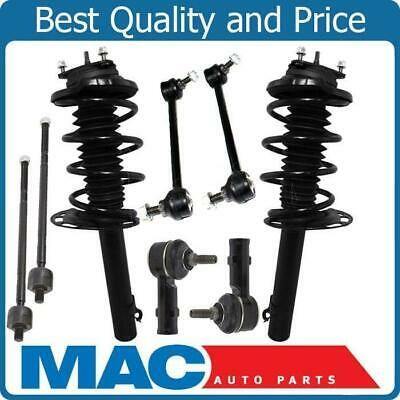 09-12 Ram 1500 Pick Up 4x4 Front Coil Spring Strut Mounts Tie Rods Sway Bar 8Pc