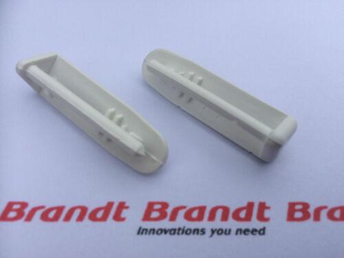 paire 2x véritable BRANDT Lave-vaisselle Couverts panier rail capuchon extrémité arrière