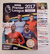 VOLL / KOMPLETTES lose aufkleber set Topps Merlin Premier League 2017 Album