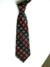 LANVIN Paris Cravatta Tie VINTAGE 70  Originale 100% SETA SILK