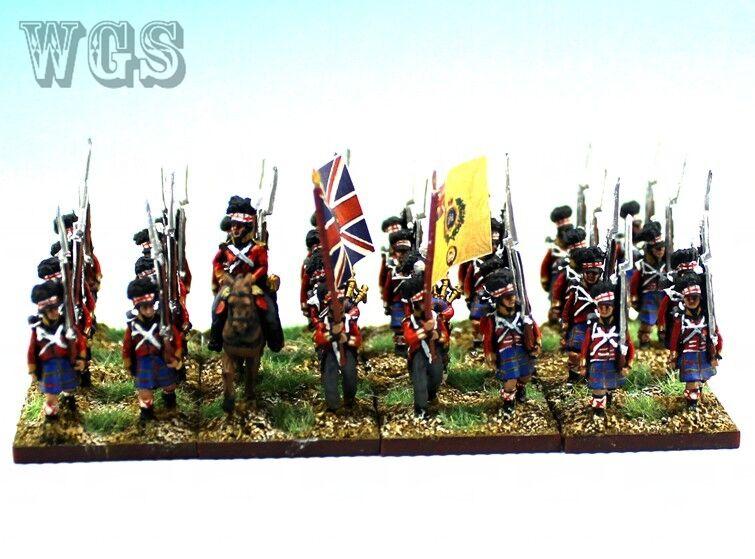 15mm Napoleonic WGS painted British Highlander Btln (32 figures) NBA4