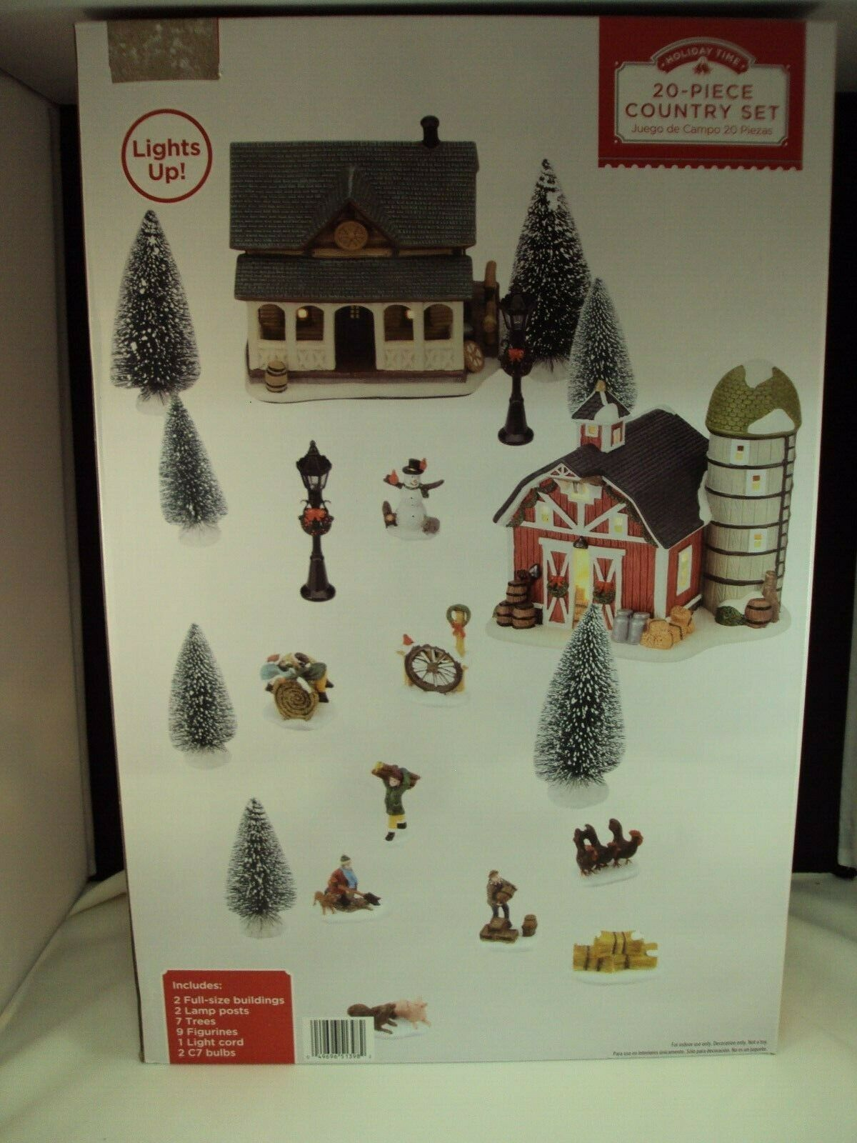 Holiday Time 20 Piece Country Christmas Village House Set For Under Tree Decor For Sale Online Ebay