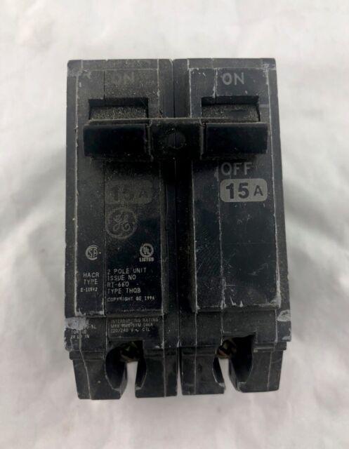 NEW GE THQB1115 THQB 1 Pole 15 Amp Circuit Breaker