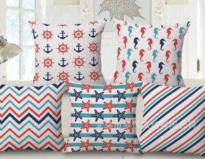 Nautical Sailor Anchor Pillowcase Pillow Covers Cushion Cover Sofa Home Decor