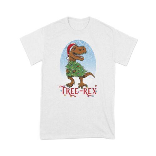 Tree-Rex Dinosaur Funny Christmas Xmas Kids Children/'s Boys T-Shirt