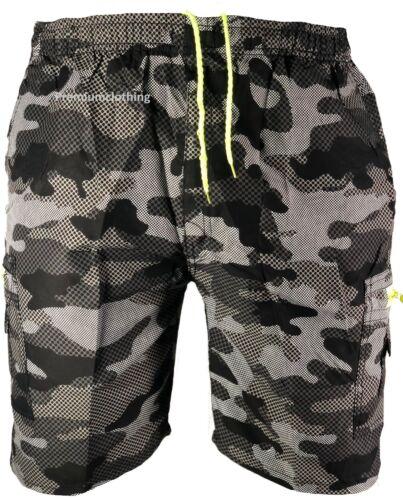 Boys Pixel Shorts Knee Length Army Mesh Net Camo Camouflage Combat Pocket Board