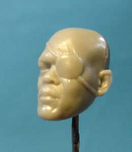 ML069-Nick-Fury-Custom-Cast-male-head-use-with-6-034-ML-Legends-action-figures
